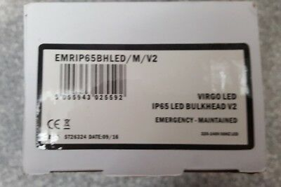 Led Emergency Light Bulkhead Exit Sign Ip65 3Watt Maintained Or Non Maintained