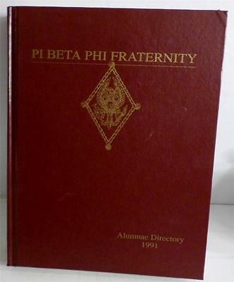 PI BETA PHI FRATERNITY ALUMNAE DIRECTORY 1991 very good huge hardcover