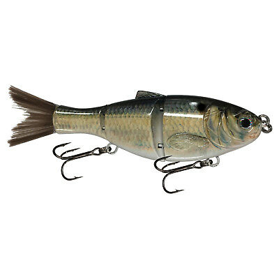 "KDS Custom Slow Sinking Jointed 5"" Multi Section Swimbait - Real Shad"