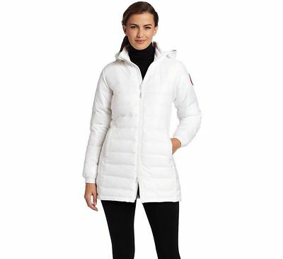 NEW CANADA GOOSE CAMP WHITE SLIM FIT HOODED DOWN JACKET COAT SIZE Large -   650 d8550040d