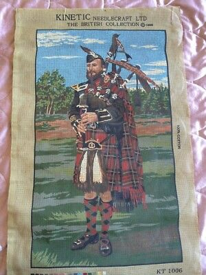Kinetic Needlecraft Ltd. Tapestry Canvas - Scotsman theme