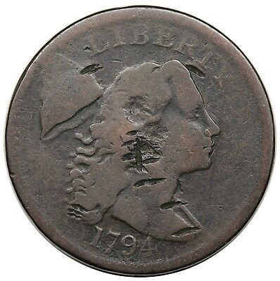 1794 Liberty Cap Large Cent, Head of '94, S-44, G+ detail