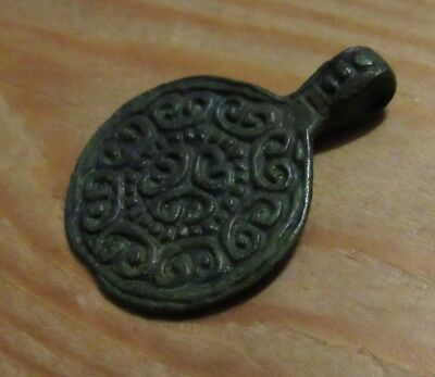 Ancient Viking Bronze  Pendant. RARE!!! Very beautifully.