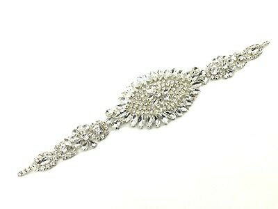 Stunning Bridal Belt Wedding Dress Sash Diamante Belt Rhinestone Applique