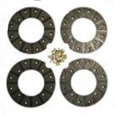 fordson super major brake linnings axle set new with rivets