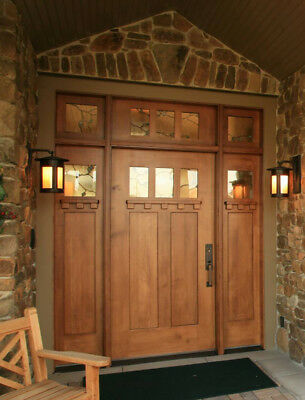 3 Lite Craftsman Entry Door With Sidelites and Transom