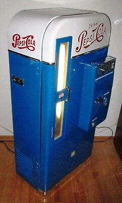 1950's Pepsi VMC 81 Embossed Round-Top Soda Machine - FULLY RESTORED & GREAT!