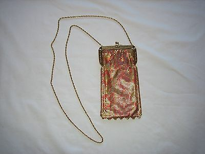 vintage whiting davis heritage collection  gold tone mesh bag 1986