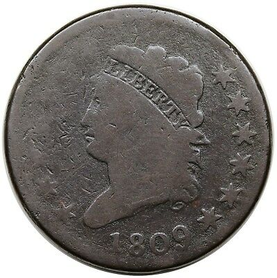 1809 Classic Head Large Cent, key date, S-280, G
