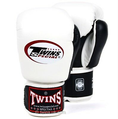 Twins Special Bgvl-3T White/Blk 14oz Muay Thai/ Boxing Gloves