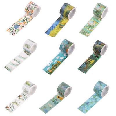 Roll 30mmX5m Self Adhesive Washi Tape Masking Paper Sticker Diary Decorative DIY