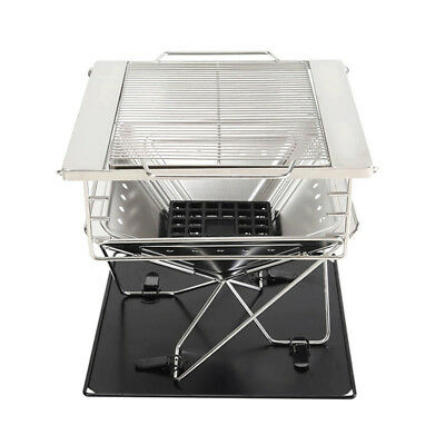 Portable Folding BBQ Barbecue Flat Pack Grill Outdoor Camping Garden Picnic