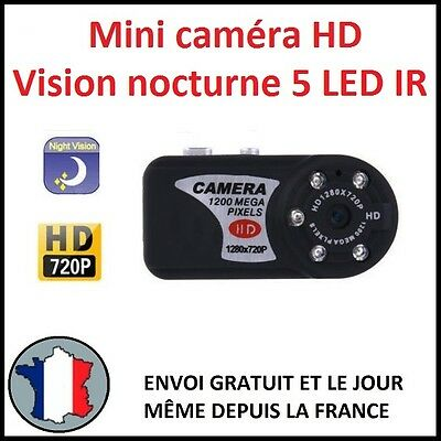 Mini Camera Full Hd Hr Vision De Nuit Infrarouge Nocturne 720P P2P Espion