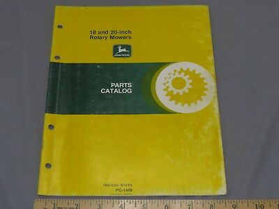 Vintage John Deere 18 inch 20 inch Rotary Mower Push Parts Catalog PC-1448 1981