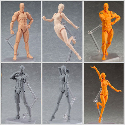 Male/Female Action Figma Archetype Figure Model Body Toy For Painting Drawing