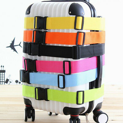 Adjustable Strong Extra Safety Travel Suitcase Luggage Baggage Straps Tie Belt**