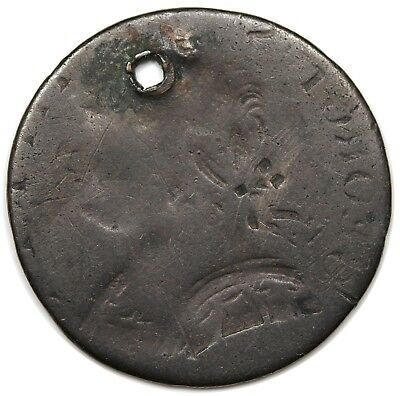 Great Britain Contemporary Non-Regal Farthing, George III, obverse brockage