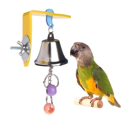 Parrot Bell Toys Birds Chewing Hanging Cage Bite Accessories Parakeet Beads Play