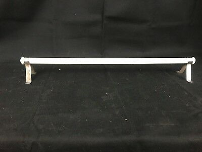 "Vintage White Milk Glass Towel Bar (Rack) with Brackets 17""+"
