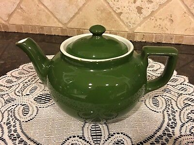Porcelain Teapot in Green - Hall China - 4 Cup