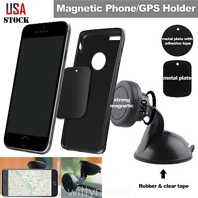 360° Magnetic Phone Holder Car Windshield Mount Stand For iphone XS Max Samsung