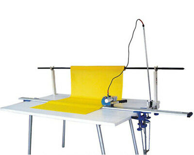 "220V High Speed Delay Function Fabric End Cutter w/86"" Rack & Digital Counter"