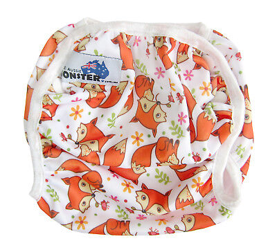 Swim Cloth Nappy - washable reuseable swimmer adjustable baby Toddler Cute Fox
