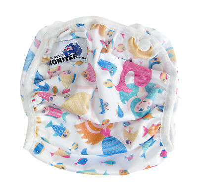 Swim Cloth Nappy - washable reuseable swimmer adjustable baby Toddler Mermaids