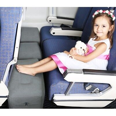 Kids Pillow Foot Rest Inflatable Travel Airplanes Cars Buses Sleep on Long Fligh