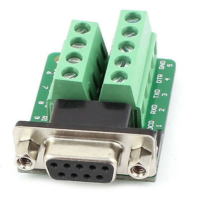 RS232 D-SUB DB9 Female Adapter to Terminal Connector Signal Module B3Y1