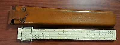 K&E 4053-3 Polyphase Slide Rule ~Keuffel & Esser ~ with case