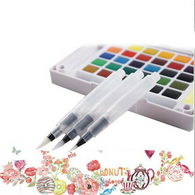Watercolor 3 Size Refillable Hot Pilot Water Brush Ink Pen For Paint Calligraphy