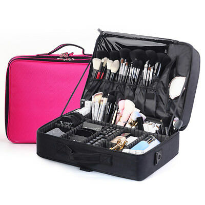 0.Professional Empty Makeup Organizer Cosmetic Bag Large Capacity Make Up Case