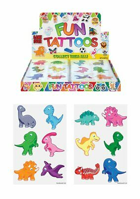 12 DINOSAUR Temporary Tattoos Kids Childrens Boys Girls Party Loot Bag Fillers