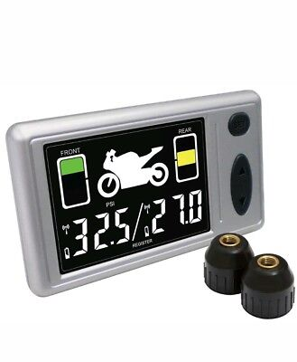 RF Digital TPMS for Motorcycles w/ 2 Transmitters & Receiver - Accutire# MS-4362