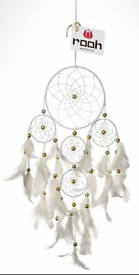 Rooh Dream Catcher ~ White 4 Tier ~ Handmade Hangings for Positivity Use as Home