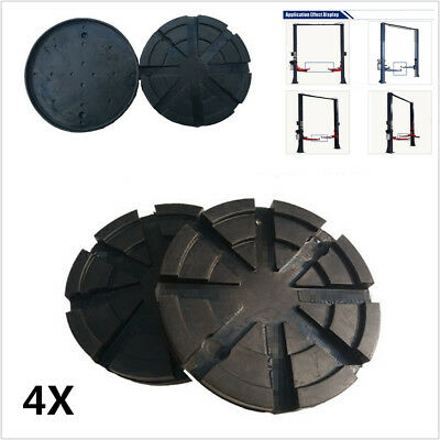 4X Black Round 123 mm Rubber Arm Pads Lift Pad For Car SUV Auto Truck Lift Hoist