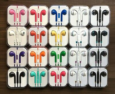 New Stylish Dual Colour 3.5 mm Stereo Headphones/Earphones with Mic for IPhones