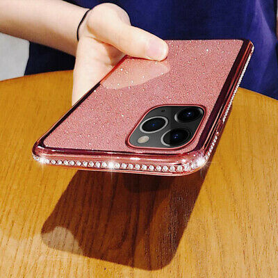 For iPhone XS Max XR X 8 7 6s Plus Luxury Bling Glitter Soft Diamond Case Cover