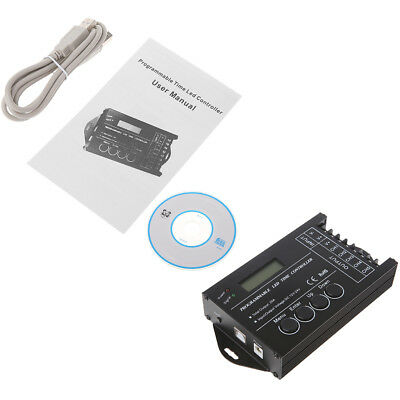 5 Channels DC 12-24V 20A Programmable TC420 RGB LED Time Dimmer Controller +CD