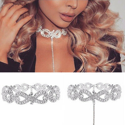 Women Charm Crystal Choker Bling Diamond Necklace Party Evening Jewelry Design