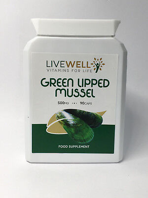 10 x Green Lipped Mussel 500mg 90 Capsules - Joint Pain & Arthritis Relief
