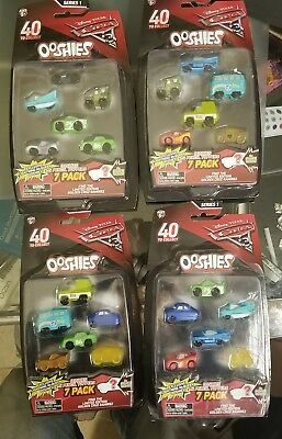 2017 Disney Pixar Cars 3 Movie Ooshies 7 Pack 4 different packages 2 choose from