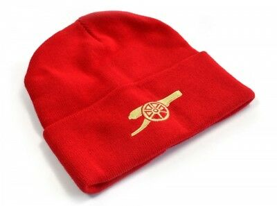 Arsenal Football Club Core Cannon Knitted Turn Up Hat Red Beanie Official