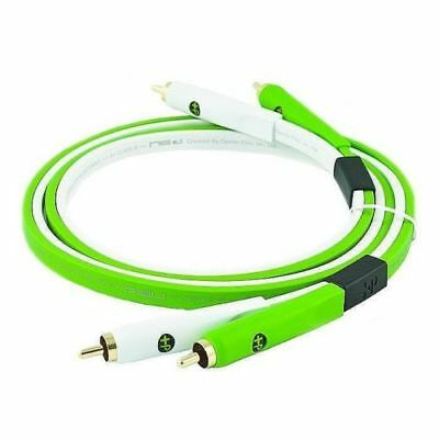 Neo Oyaide d+ RCA Class B 1.0m Green / White RCA Cable MUSIC
