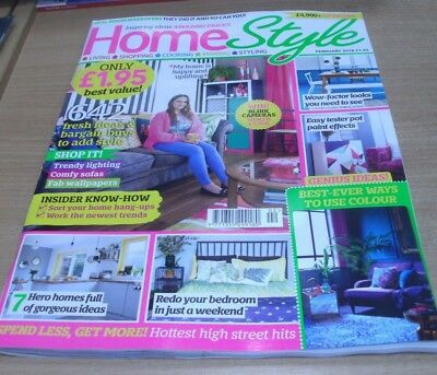 Home Style magazine FEB 2018 Wow-Factor Looks, Tester Pot Paint Effects, Bedroom