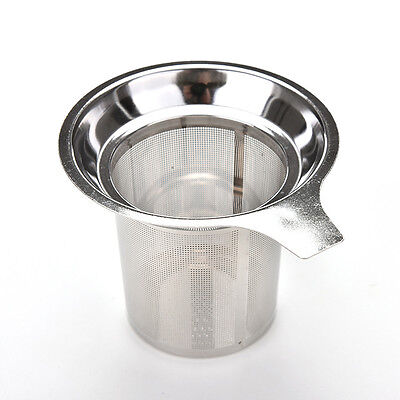 Stainless Steel Mesh Tea Infuser Reusable Filter Loose Tea Leaf Spice Filter JS