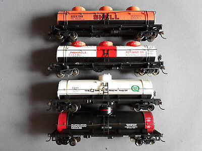 Bachmann Us Tank Cars X 4 Metal Wheels Excellent Condition Unboxed Ho Gauge(Fn)