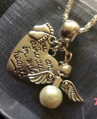 Baby feet memory Necklace, Angel, In My Heart Bereavement, Keepsake, Miscarriage