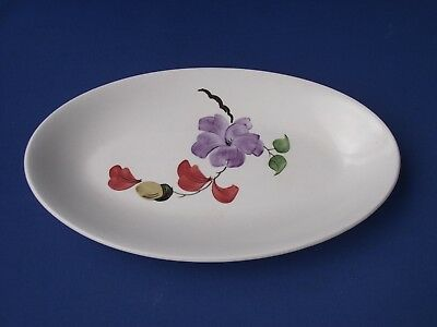 Radford Pottery England Hand Painted Oval Plate Dish Flower and Acorn Oak